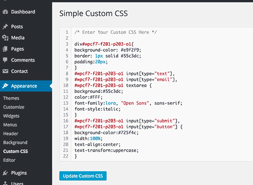 CSS Kustom Sederhana