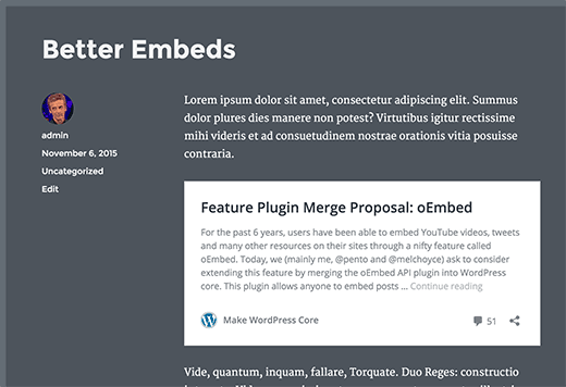 Embed posts from other WordPress sites in your blog