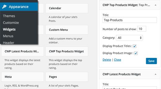 Adding reviews widgets in WordPress sidebar
