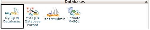 MySQL databases in cPanel