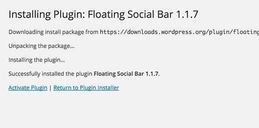 Activating a plugin