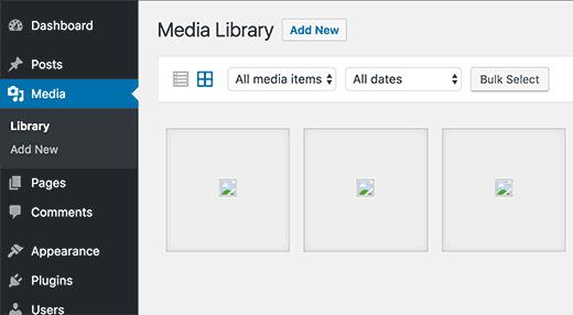WordPress image upload issues