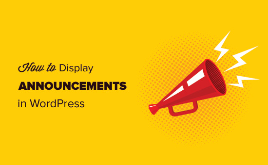 How to display announcements in WordPress blog