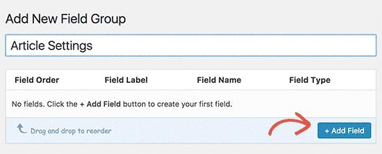 Add your fist field