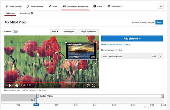 Pengeditan video YouTube