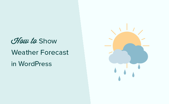 Showing weather forecase in WordPress
