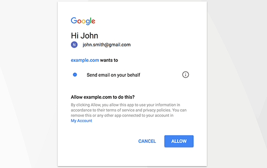 Allow Gmail