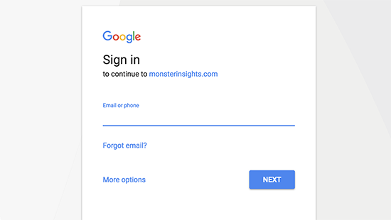 Sign in or select your Google account to continue