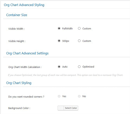 Chart Advanced Styling