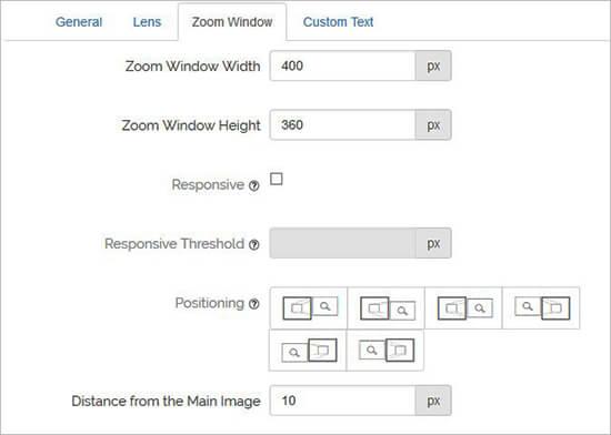 Zoom Window Configuration