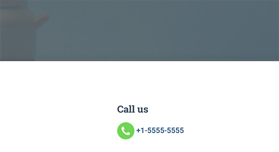 Click-to-call button with image icon