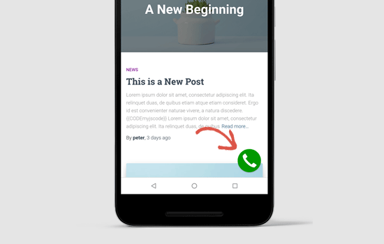 Mobile button preview