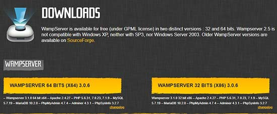Download wampserver