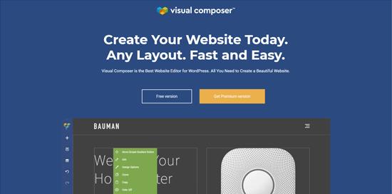 Visual Composer Website Builder plugin