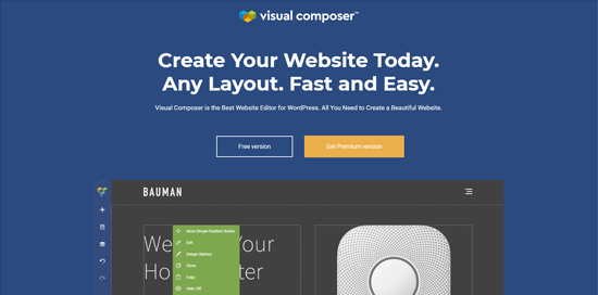 Visual Composer Website Builder plugin