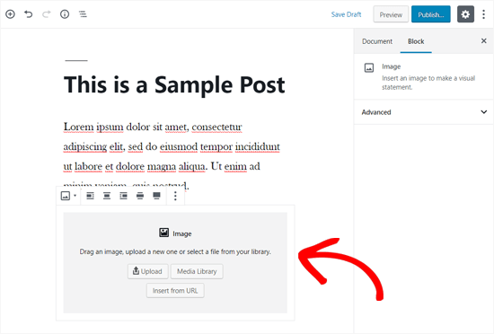 Image Block Added In WordPress