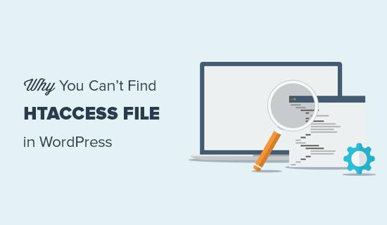 Menemukan file .htaccess untuk situs WordPress Anda