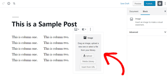 Image Block Added to WordPress