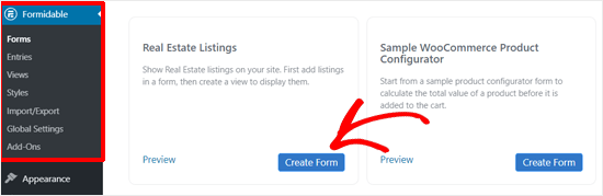 Create Real Estate Form with Formidable Forms