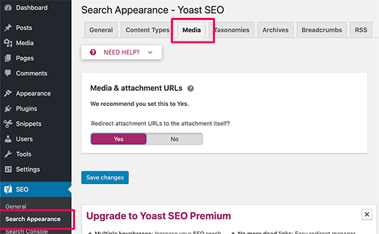 Disable attachment URLs in WordPress