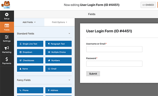 WPForms form builder