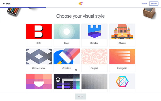 Choose style