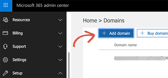 Add domain to Office 365