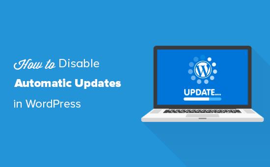 Disabling automatic updates in WordPress