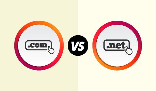 Ekstensi domain .com vs .net
