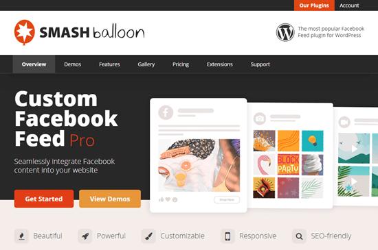 Smash Balloon Custom Facebook Feed Pro
