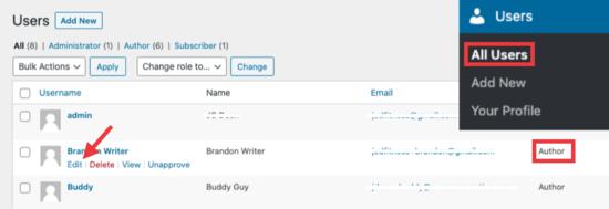 Edit user settings