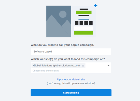 Naming your WooCommerce upsell popup in OptinMonster