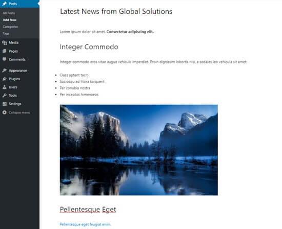 WordPress blok düzenleyicideki Google Dokümanlar metni