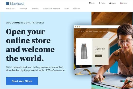 Memulai toko online Anda dengan Bluehost