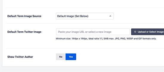 Setting a default term image