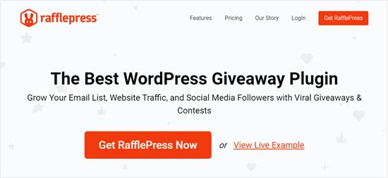Situs web RafflePress
