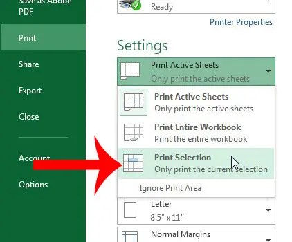 How To Print Part Of A Worksheet In Excel