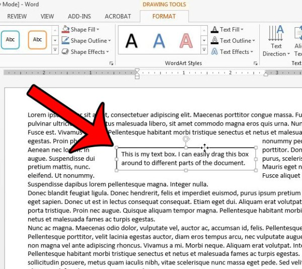 How to Insert a Text Box in Word 2013 - Solve Your Tech