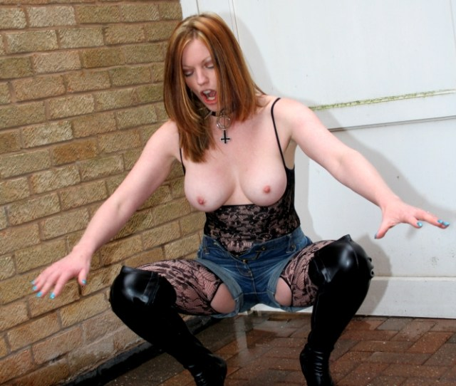 Sleazy Street Whore Swallows My Load In The Street