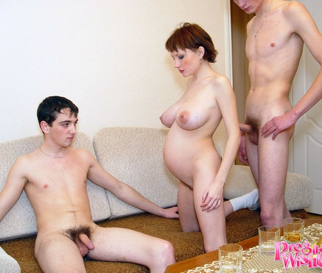Pregnant Slut Gets Fucked By A Lot Of Guys