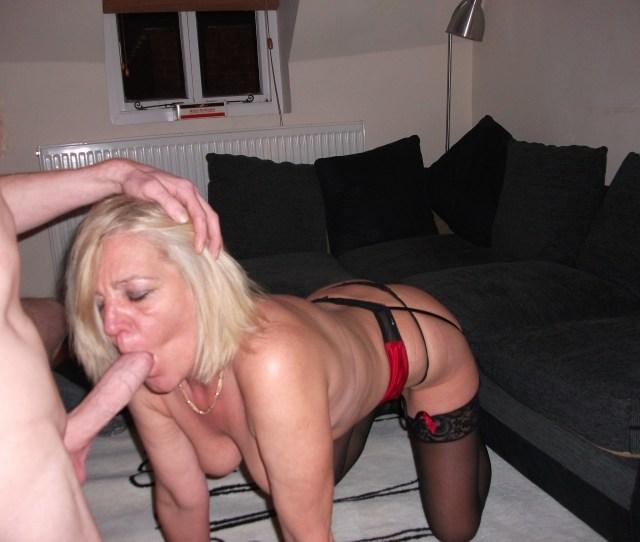 Blonde Mom Sucks Dick