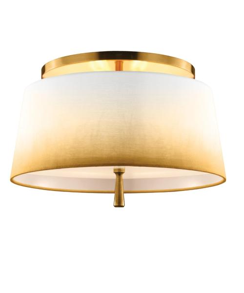 Murray Feiss SF316 Tori 14 Inch Wide Semi Flush Mount   Capitol     magnifying glass image Shown in Bali Brass finish