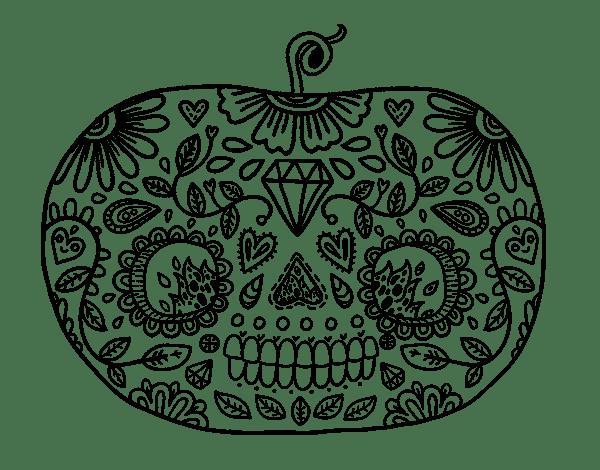Pumpkin Mandala Color