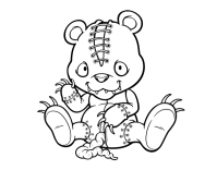 halloween teddy bear coloring pages