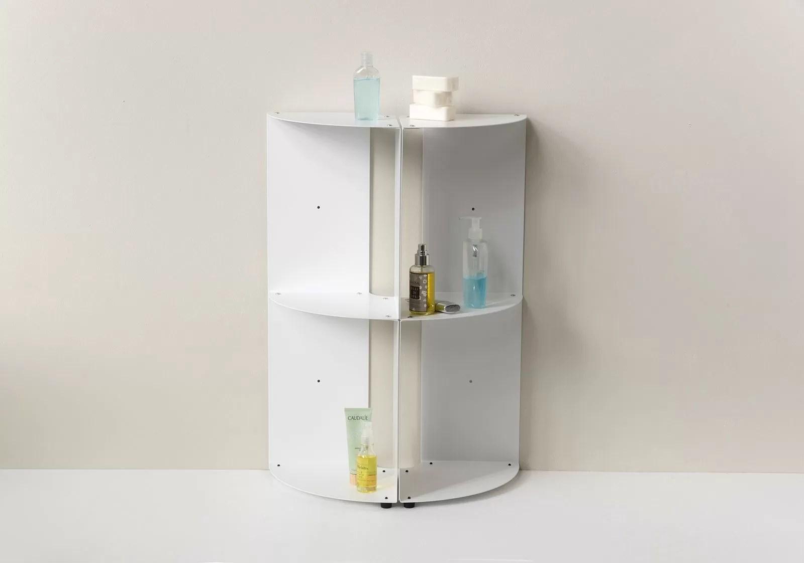 Bathroom corner shelf DANgolo - Steel - 25x25x70cm on Bathroom Corner Shelf  id=99296