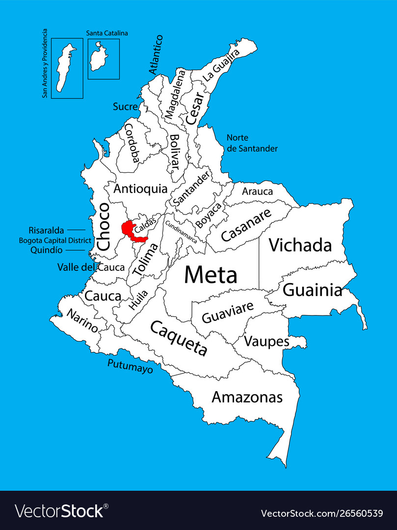 Map region risaralda colombia province map Vector Image