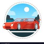 Red Luxury Car Icon Royalty Free Vector Image Vectorstock