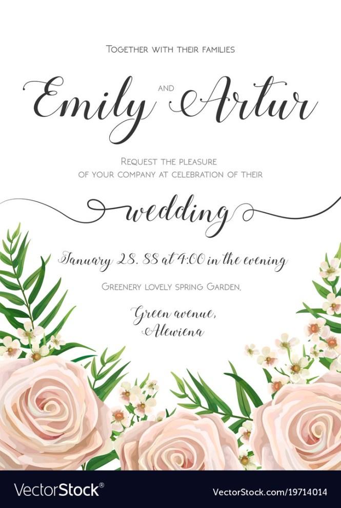 Fl Wedding Invitation Card Design