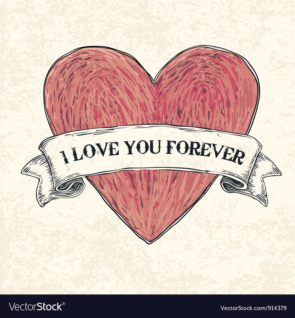 Download I love u 4ever Royalty Free Vector Image - VectorStock