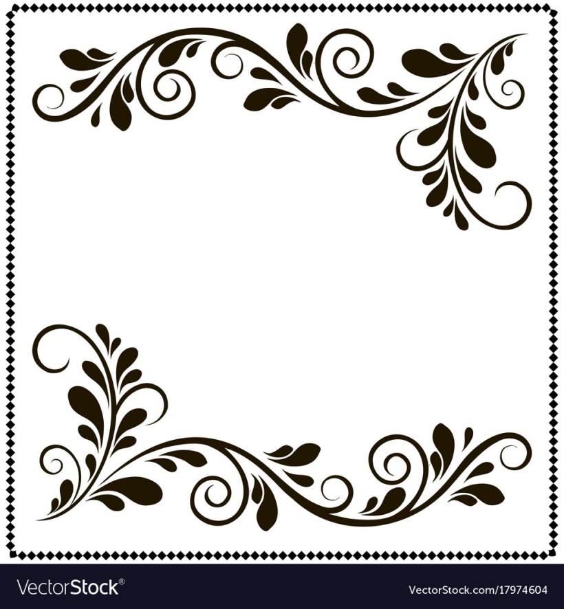 Black And White Frame Border Design | Allcanwear.org